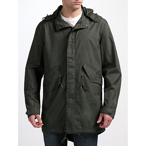 Buy Selected Homme Field Parka Jacket, Pirate Black Online at johnlewis.com