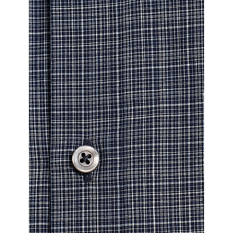 Buy Jigsaw Regular Fit Ghost Check Shirt, Navy Online at johnlewis.com