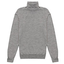 Buy Jigsaw Merino Wool Roll Neck Jumper, Grey Online at johnlewis.com