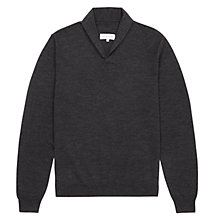 Buy Jigsaw Merino Wool Shawl Collar Jumper Online at johnlewis.com
