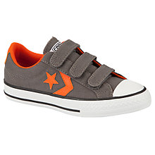 Buy Converse Star Player Rip-Tape Strap Trainers, Charcoal/Terracotta Online at johnlewis.com