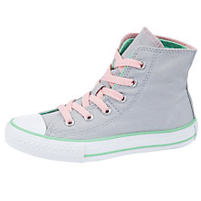 Buy Converse Chuck Taylor 2 Fold Hi Top Trainers, Grey/Multi Online at johnlewis.com