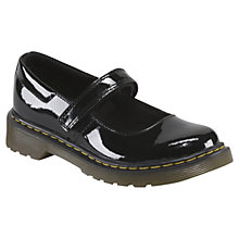 Buy Dr Martens Patent Mary Janes, Black Online at johnlewis.com