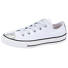 Buy Converse Chuck Taylor Metallic Low Tops, White/Silver Online at johnlewis.com