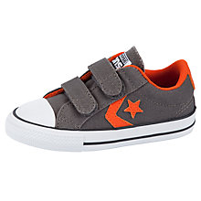 Buy Converse Star Player Double Strap Trainers, Charcoal/Terracotta Online at johnlewis.com