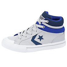 Buy Converse Pro Blaze Hi-Top Trainers, Grey/Blue Online at johnlewis.com
