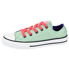 Buy Converse Chuck Taylor Glam Rock Ox Trainers, Green/Coral Online at johnlewis.com