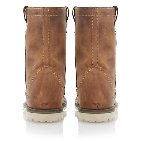 Buy Dune Caveman Leather Slip On Boots, Tan Online at johnlewis.com