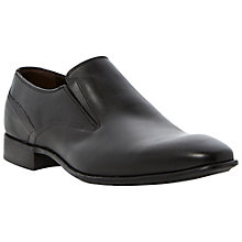 Buy Dune Atlas Leather Slip On Shoes, Black Online at johnlewis.com