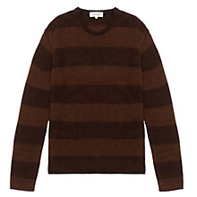 Buy Jigsaw Wool Alpaca Melange Stripe Crew Neck Jumper Online at johnlewis.com