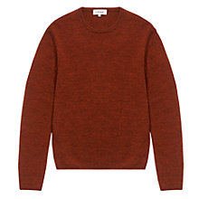Buy Jigsaw Wool Alpaca Melange Crew Neck Jumper, Orange Online at johnlewis.com
