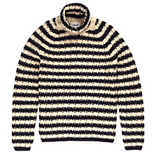 Buy Jigsaw Rove Striped Roll Neck Jumper, Navy/Ecru Online at johnlewis.com