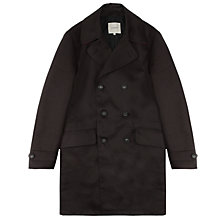 Buy Jigsaw Double Faced Cotton Trench Coat, Navy Online at johnlewis.com