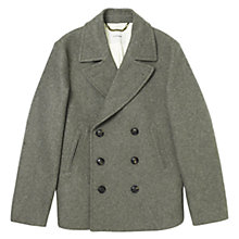 Buy Jigsaw Short Wool Peacoat, Grey Online at johnlewis.com