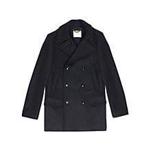 Buy Jigsaw Wool Melton Heritage Peacoat, Navy Online at johnlewis.com