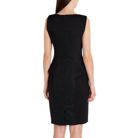 Buy Ted Baker Aneta Structured Peplum Dress, Black Online at johnlewis.com