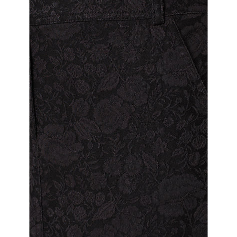 Buy Jigsaw Jacquard Skirt, Black Online at johnlewis.com