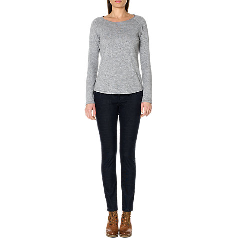 Buy Jigsaw Zip Cord Skinny Jeans, Navy Online at johnlewis.com