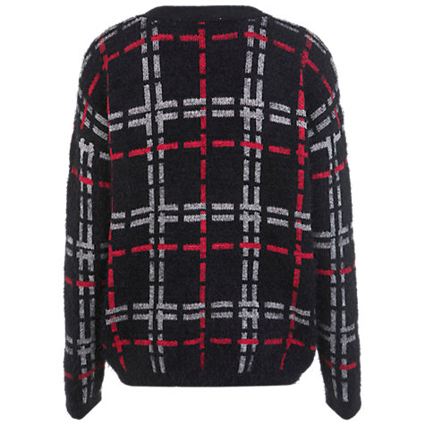 Buy Miss Selfridge Fluggy Grunge Cardigan, Black Online at johnlewis.com