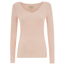 Buy Havren Ribbed V-Neck Jumper, Nude Online at johnlewis.com