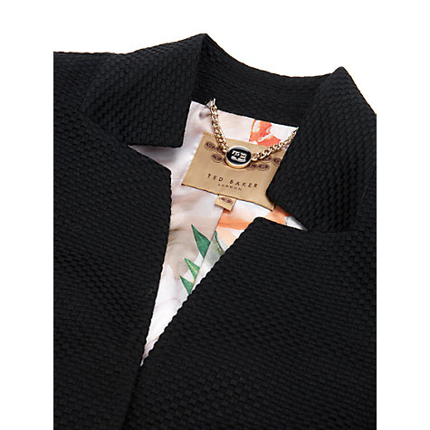Buy Ted Baker Skyler Textured Blazer, Black Online at johnlewis.com