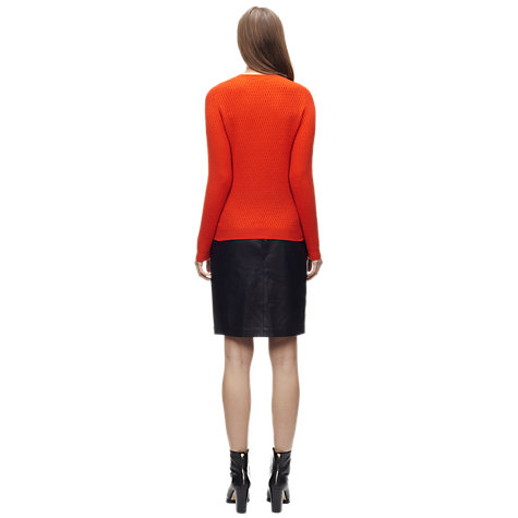 Buy Whistles Carin Cashmere Waffle Jumper, Red Online at johnlewis.com