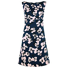 Buy Havren Orchid Silk Jacquard Dress, Indigo Print Online at johnlewis.com