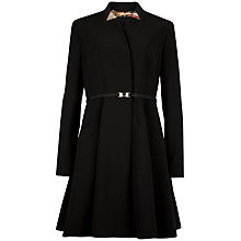 Buy Ted Baker Oryla Flared Skirt Coat, Black Online at johnlewis.com