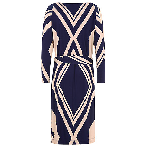 Buy Havren Diagonal Print Batwing Jersey Dress, Multi Online at johnlewis.com