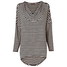 Buy Phase Eight Maxine Oversize Top, Black/Oatmeal Online at johnlewis.com