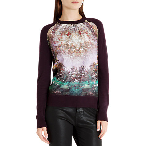 Buy Ted Baker Rayna Jumper, Deep Purple Online at johnlewis.com