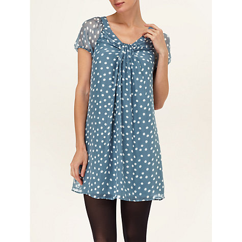Buy Phase Eight Mischa Spot Silk Dress, Airforce Online at johnlewis.com