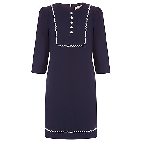 Buy Havren Bib Shift Dress, Indigo Online at johnlewis.com