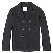 Buy Jigsaw Cotton Jersey Peacoat, Midnight Online at johnlewis.com