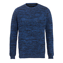 Buy Selected Homme 5-Ply Crew Neck Jumper, Blue/Black Online at johnlewis.com