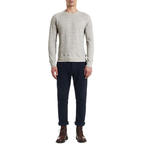 Buy Jigsaw Raglan Sleeve Sweatshirt, Grey Marl Online at johnlewis.com