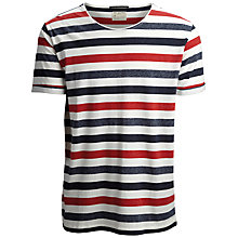 Buy Selected Homme Ricky Stripe T-Shirt Online at johnlewis.com