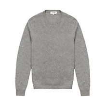 Buy Jigsaw Wool Cashmere Crew Neck Jumper, Grey Online at johnlewis.com