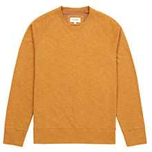 Buy Jigsaw Raglan Crew Neck Cotton Jumper, Marigold Online at johnlewis.com