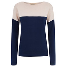 Buy Havren Cashmere Blend Colour Blocking Jumper, Indigo/Nude Online at johnlewis.com