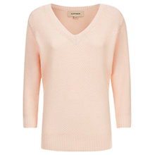 Buy Havren Cashmere Blend Tuck Stitch Jumper, Nude Online at johnlewis.com