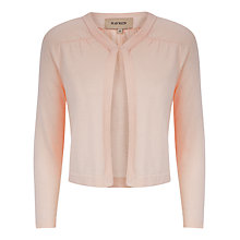 Buy Havren Cropped Cashmere Blend Cardigan, Nude Online at johnlewis.com