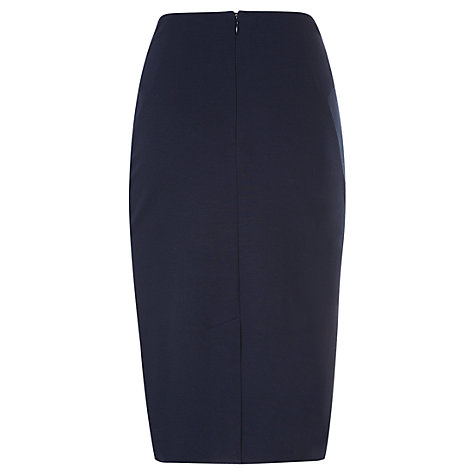 Buy Havren Ponte Pencil Skirt, Indigo Online at johnlewis.com