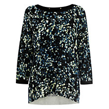 Buy Warehouse Frankie Printed Batwing Jumper, Multi Online at johnlewis.com