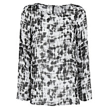 Buy Mango Waterfall Effect Chalk Top, Black Online at johnlewis.com
