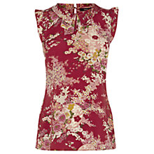 Buy Oasis Red Print Top, Multi Red Online at johnlewis.com