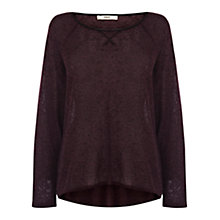 Buy Oasis Sweatshirt Jumper, Burgundy Online at johnlewis.com