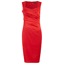 Buy Alexon Sateen Dress, Red Online at johnlewis.com