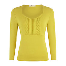 Buy Precis Petite Fennel Pleat Front Jersey Top, Green Online at johnlewis.com
