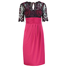 Buy Alexon Lace Detail Jersey Dress, Pink Online at johnlewis.com